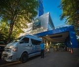 Complimentary scheduled airport shuttle from Jakarta Hotel